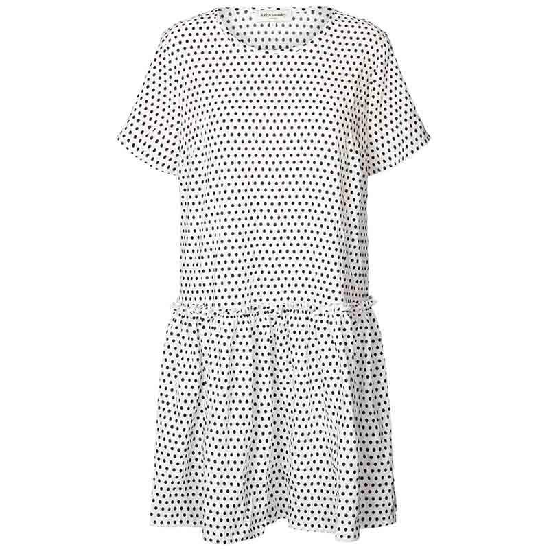 Lollys Laundry Kjole, Gili, Creme, sommerkjole, hverdagskjole, Lollys laundry Gili Dress, kjole med polkaprikker