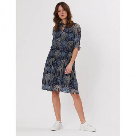 PBO Kjole, Molilly, Blue Multi, festkjole, sommerkjole, festtøj, hverdagskjole - model