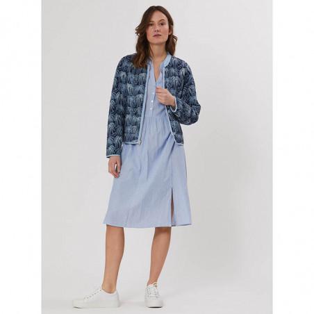 PBO Jakke, Howli Quilt, Blue Print, forårsjakke, sommerjakke, quiltet jakke - Model