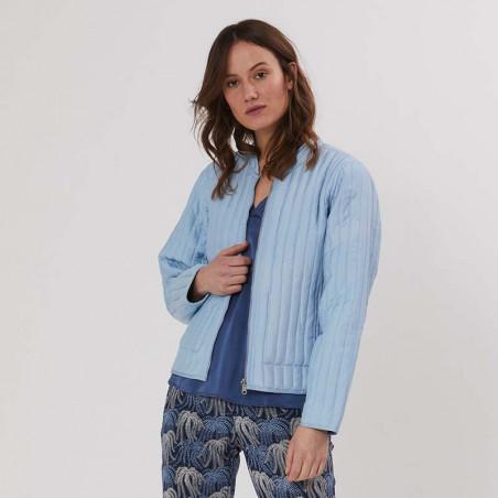 PBO Jakke, Howli Quilt, Blue Print, forårsjakke, sommerjakke, quiltet jakke - vend om
