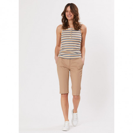 PBO Shorts, Beck Capri, Sand, lange shorts - front