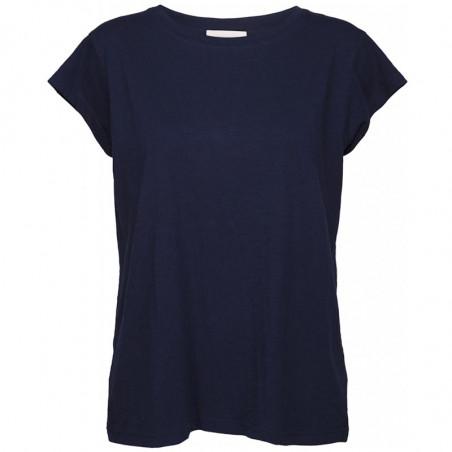 Minus T-shirt, Leti, Black Iris, basic T-shirt
