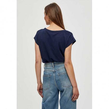 Minus T-shirt, Leti, Black Iris, basic T-shirt - bagside