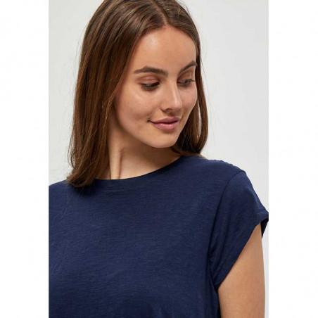 Minus T-shirt, Leti, Black Iris, basic T-shirt - ærme