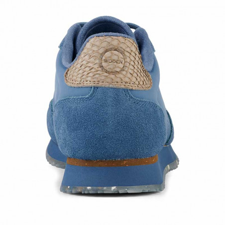 Woden Sneakers, Nora III Leather, Vintage Blue - hælkap