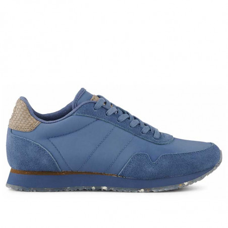 Woden Sneakers, Nora III Leather, Vintage Blue, front