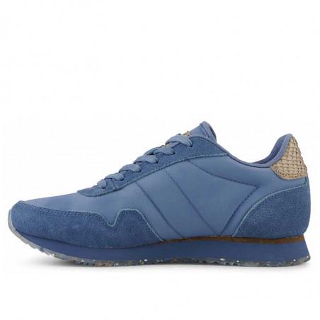 Woden Sneakers, Nora III Leather, Vintage Blue, side