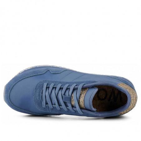 Woden Sneakers, Nora III Leather, Vintage Blue, top