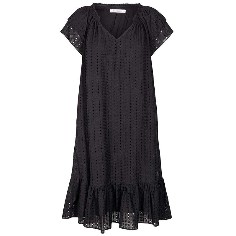 Co'Couture Kjole, Sunrise Crop Anglaise, Black, hverdagskjoler, sommerkjoler, festkjoler, sorte kjoler, broderi anglaise
