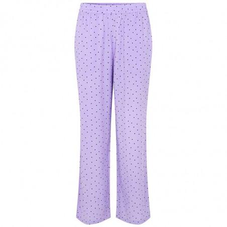 Modström Bukser, Talle, Lavender Polka, loungewear busker, lilla bukser , Modström Talle Print Pants, Lavender polka