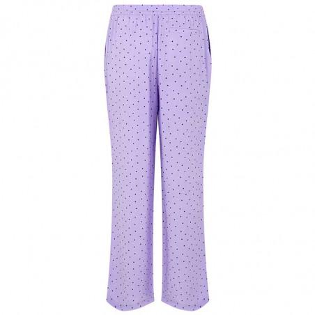 Modström Bukser, Talle, Lavender Polka, loungewear busker, lilla bukser  Modström Talle Print Pants, Lavender polka, bagside