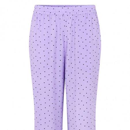 Modström Bukser, Talle, Lavender Polka, loungewear busker, lilla bukser  Modström Talle Print Pants, Lavender polka,  tæt på