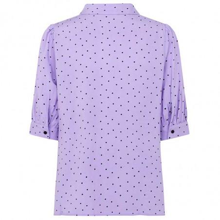 Modström Skjorte, Talle, Lavender Polka, Modström Talle Print Shirt, Lavneder Polka, Pastelfarvet skjorte - bagside