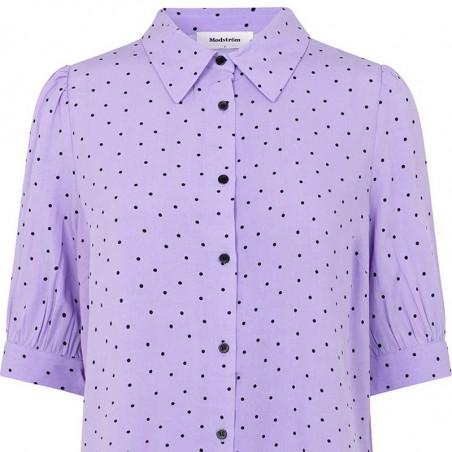 Modström Skjorte, Talle, Lavender Polka, Modström Talle Print Shirt, Lavneder Polka, Pastelfarvet skjorte - tæt på