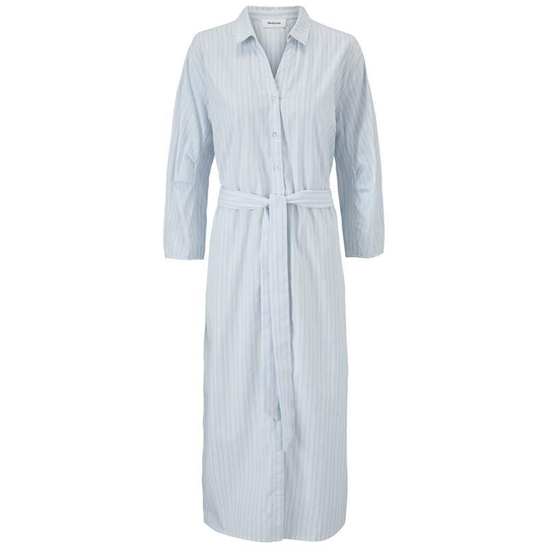 Modström Kjole, Jasleen, Blue Stripe, sommerkjole, hverdagskjole, stribet kjole