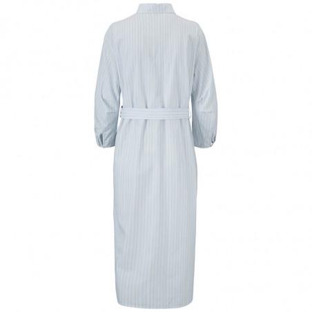 Modström Kjole, Jasleen, Blue Stripe, sommerkjole, hverdagskjole, stribet kjole - Bagside