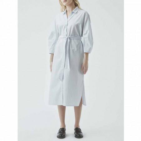 Modström Kjole, Jasleen, Blue Stripe, sommerkjole, hverdagskjole, stribet kjole - model