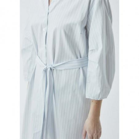 Modström Kjole, Jasleen, Blue Stripe, sommerkjole, hverdagskjole, stribet kjole - bindebånd