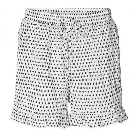 Lollys Laundry Shorts, Ida, Creme, shorts med flæser