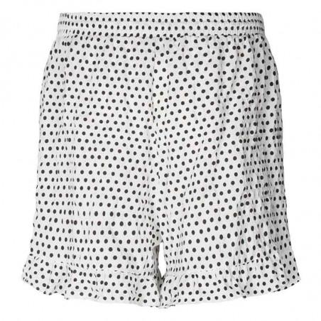 Lollys Laundry Shorts, Ida, Creme, shorts med flæser - bagside