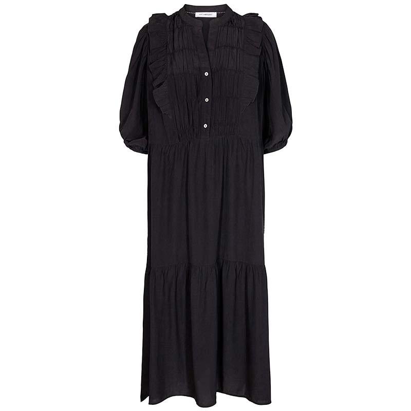 Co'Couture Kjole, Samia Sun Frill, Black, sommerkjole, hverdagskjole, festkjole