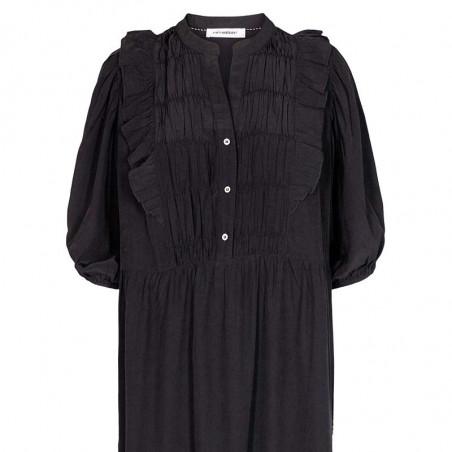 Co'Couture Kjole, Samia Sun Frill, Black, sommerkjole, hverdagskjole, festkjole - front