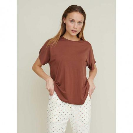 Basic Apparel T-shirt, Joline, Mink på model