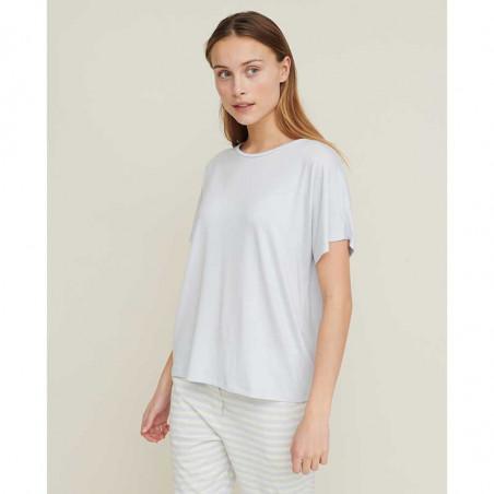 Basic Apparel T-shirt, Joline, Arctic Ice se fra siden