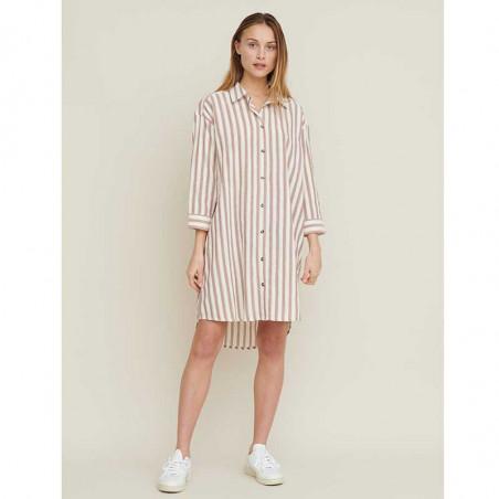 Basic Apparel Kjole, Nori, Storskjorte - skjortekjole i Mink