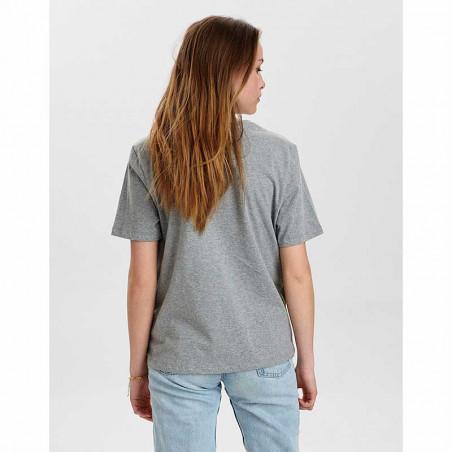 Nümph T-Shirt, Nusisterhood, Light Grey Melange, T-shirt i økologisk bomuld, numph tøj, numph t shirt - bagside