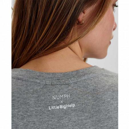 Nümph T-Shirt, Nusisterhood, Light Grey Melange, T-shirt i økologisk bomuld, numph tøj, numph t shirt - numph o littlebighep