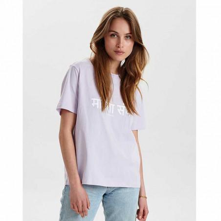Nümph T-Shirt, Nusisterhood, Orchid Petal, numph tøj, økologisk bomuld - model front