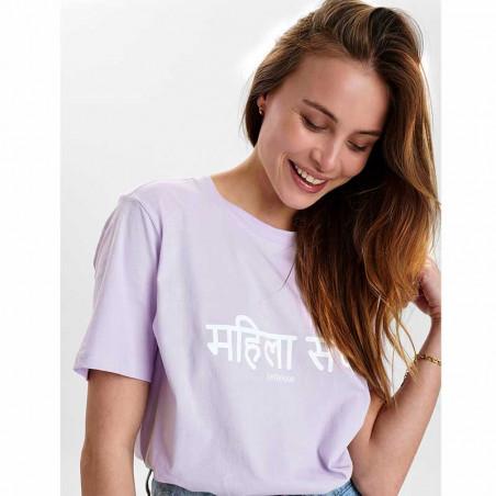 Nümph T-Shirt, Nusisterhood, Orchid Petal, numph tøj, økologisk bomuld - print