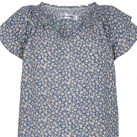 Co'Couture Bluse, Sunrise Breeze, New Blue, sommertop, tæt på