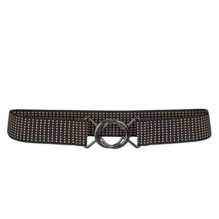 Co'Couture Bælte, Rist Elastic, Black, Elastic  Rist Belt Black, bælte med elastik, bælte i taljen.