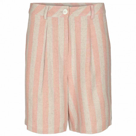 Nümph Shorts, Nucatelyn, Brazillian Sand, lange shorts, hør shorts