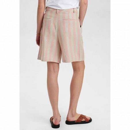 Nümph Shorts, Nucatelyn, Brazillian Sand, lange shorts, hør shorts - bagside