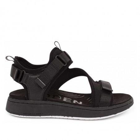 Woden Sandaler, Emilie, Beige, flade sandaler, sandaler med velcroremme, sandaler til remme, sporty sandaler