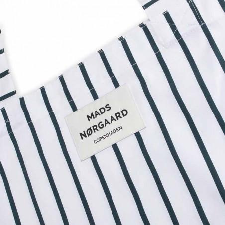 Mads Nørgaard Net, Sacky Atoma, Scarab/White, totebag, mulepose, bæredygtig, økologisk bomuld - logo