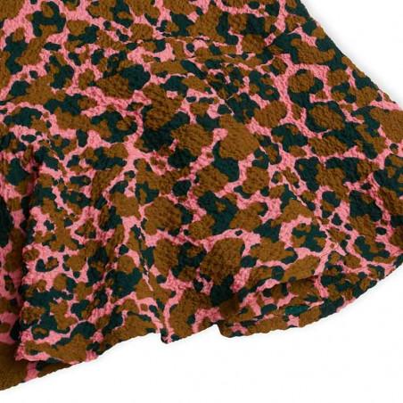 Mads Nørgaard Kjole, Daria Bumpy Flower, Multi Strawberry Pink, festkjole, sommerkjole, hverdagskjole - flæsekant