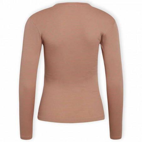 Mads Nørgaard Bluse, Tuba 2x2 Cotton Stripe, Multi Incense , lang ærmet T-shirt, bluse i økologisk bomuld - bagside