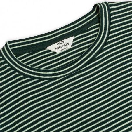 Mads Nørgaard Bluse, Tuba 2x2 Cotton Stripe, Multi Incense, langærmet bluse i økologisk bomuld - front