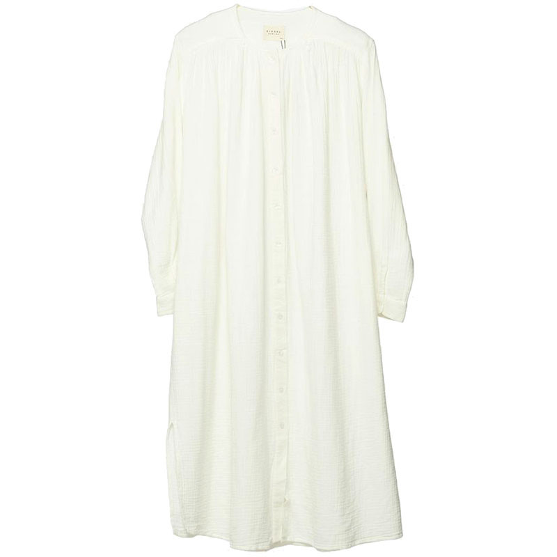 Sissel Edelbo Kjole, Brave Organic Cotton, White, sommerkjole, hverdagskjole, skjortekjole