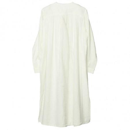 Sissel Edelbo Kjole, Brave Organic Cotton, White, sommerkjole, hverdagskjole, skjortekjole - bagside