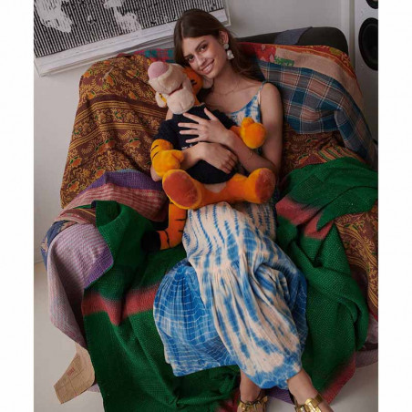 Sissel Edelbo Kjole, Delhi Tie Dye, Blue, sommerkjole, hverdagskjole, tie dye - model