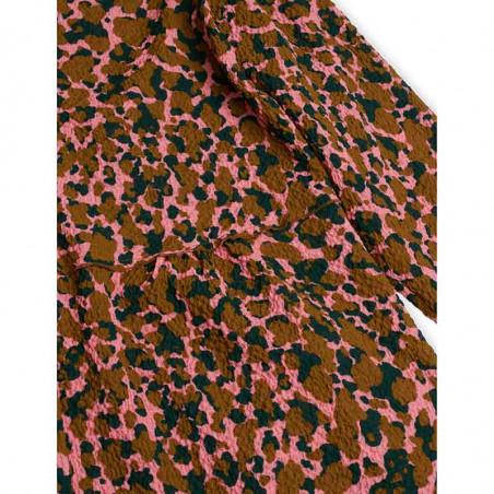Mads Nørgaard Kjole, Dupina Bumpy Flower, Multi Strawberry Pink, sommerkjoler, hverdagskjole, festkjole - print