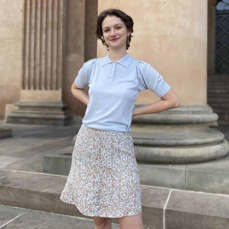 Modström Nederdel, Isa, Bluebell Kort nederdel, nederdel med print på model