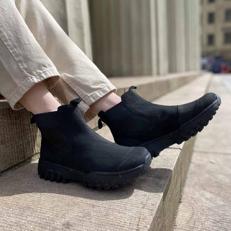 Woden Gummistøvler, Magda Rubber Track, Black, korte gummistøvler til kvinder på model