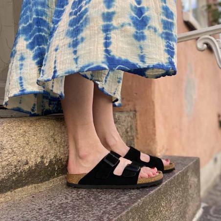 Birkenstock Sandaler, Arizona Blød Fodseng, Black, flade sandaler, sandaler til kvinder, birkenstock til kvinder - model