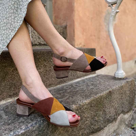 Chie Mihara Sko, Quirita, Ante Cement unikke sandaler på model